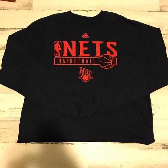 newest 700d5 bf294 New Jersey Nets Long sleeve t shirt XL